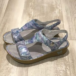 Alegria multi color ocean sandals